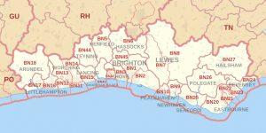 Brighton and Hove and BN postcode area