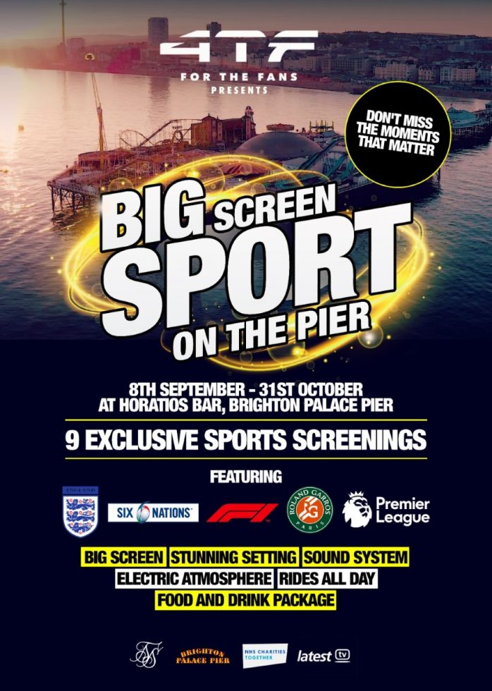 Big screen sport on the Palace Pier